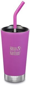 Klean Kanteen Insulated Tumbler Termosmuki 473 ml + Pillikansi, Berry Bright