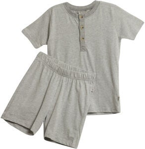Wheat Short SS Pyjama, Melange Grey