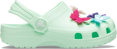 Crocs Classic Butterfly Charm Clog, Neo Mint