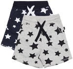 Luca & Lola Fabriano Shortsit 2-pack, Night Sky/Grey Melange