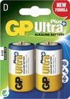 GP Ultra Plus Alkaline D-Paristot LR20 2-pack