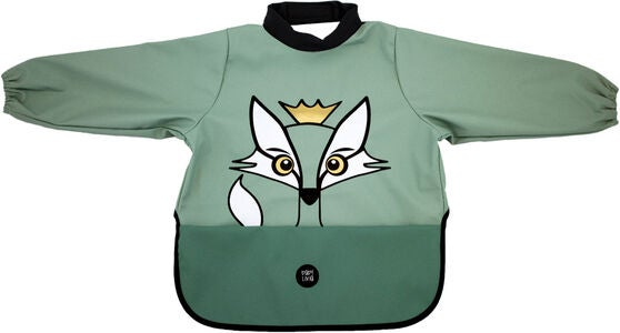 babyLivia Hihallinen Ruokalappu Fox, Powder Green