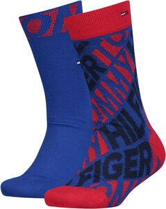 Tommy Hilfiger Diagonal Sukat 2-pack, Red/Blue