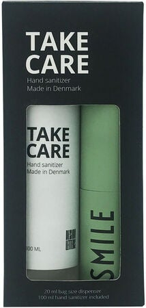Design Letters Take care Pullo Käsidesille 20 ml + 100 ml Käsidesi Smile, Green