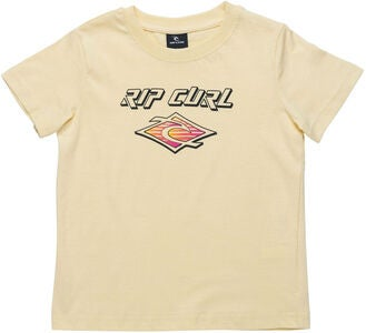 Rip Curl Neon Slant And Donut T-Paita, Pale Yellow