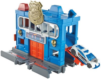 Hot Wheels City Downtown Leikkisetti Police Station Breakout