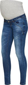 Mamalicious Globe Slim Farkut, Dark Blue Denim