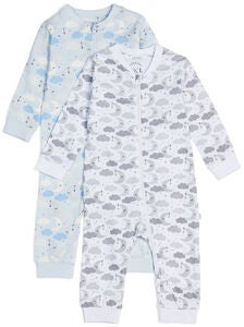 Luca & Lola Fiore Pyjama 2-pack, Blue Clouds