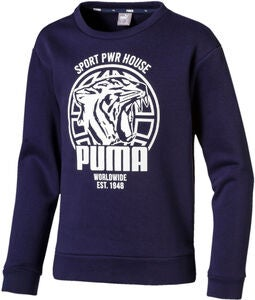 Puma Alpha Graphic Crew Paita, Peacoat
