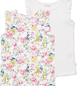 Luca & Lola Montena Topit, Flowers/White