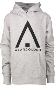 Wearcolour Patch Hoodie Huppari, Grey Melange